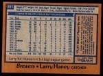 1978 Topps #391  Larry Haney  Back Thumbnail