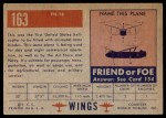 1952 Topps Wings #163   YH-18 Back Thumbnail