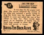 1950 Topps Bring Em Back Alive #37   Call For Help Back Thumbnail