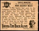 1950 Topps Bring Em Back Alive #34   Turtle Monster Back Thumbnail