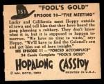 1950 Topps Hopalong Cassidy #151   The meeting Back Thumbnail