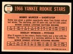 1966 Topps #469   -  Bobby Murcer / Dooley Womack Yankees Rookies Back Thumbnail