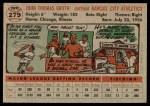 1956 Topps #279  Johnny Groth  Back Thumbnail