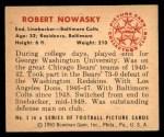 1950 Bowman #3  Robert Nowasky  Back Thumbnail