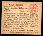 1950 Bowman #82  Paul Burris  Back Thumbnail
