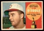 1960 Topps #325  Jim O'Toole  Front Thumbnail