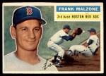 1956 Topps #304  Frank Malzone  Front Thumbnail