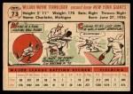 1956 Topps #73  Wayne Terwilliger  Back Thumbnail