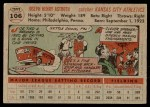 1956 Topps #106 GRY Joe Astroth  Back Thumbnail