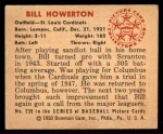 1950 Bowman #239  Bill Howerton  Back Thumbnail