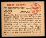 1950 Bowman #222  Bob Morgan  Back Thumbnail