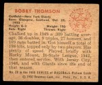 1950 Bowman #28  Bobby Thomson  Back Thumbnail