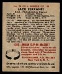 1948 Bowman #70  Jack Ferrante  Back Thumbnail