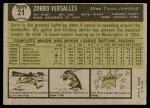 1961 Topps #21  Zoilo Versalles  Back Thumbnail