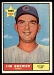 1961 Topps #317  Jim Brewer  Front Thumbnail