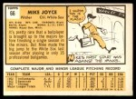 1963 Topps #66  Mike Joyce  Back Thumbnail