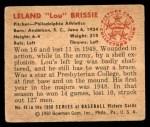 1950 Bowman #48  Lou Brissie  Back Thumbnail