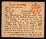 1950 Bowman #252 CPR Billy DeMars  Back Thumbnail