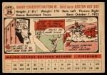 1956 Topps #26  Grady Hatton  Back Thumbnail