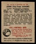 1948 Bowman #94  John Adams  Back Thumbnail