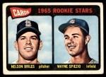 1965 Topps #431   -  Nelson Briles / Wayne Spiezo Cardinals Rookies Front Thumbnail