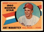 1960 Topps #138   -  Art Mahaffey Rookie Star Front Thumbnail
