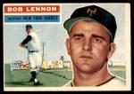 1956 Topps #104 GRY Bob Lennon  Front Thumbnail