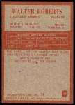 1965 Philadelphia #38  Walter Roberts  Back Thumbnail