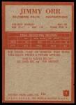 1965 Philadelphia #9  Jimmy Orr     Back Thumbnail