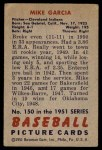 1951 Bowman #150  Mike Garcia  Back Thumbnail