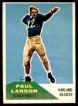 1960 Fleer #13  Paul Larson  Front Thumbnail