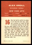 1963 Fleer #16  Alex Kroll  Back Thumbnail