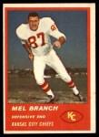 1963 Fleer #54  Mel Branch  Front Thumbnail