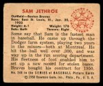 1950 Bowman #248 CPR Sam Jethroe  Back Thumbnail