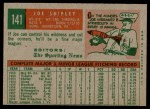 1959 Topps #141  Joe Shipley  Back Thumbnail