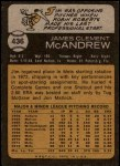 1973 Topps #436  Jim McAndrew  Back Thumbnail