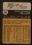 1973 Topps #448  John Hiller  Back Thumbnail