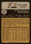 1973 Topps #417  Scipio Spinks  Back Thumbnail