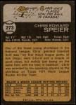 1973 Topps #273  Chris Speier  Back Thumbnail