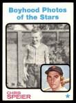 1973 Topps #345   -  Chris Speier  Boyhood Photo Front Thumbnail