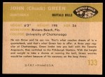 1961 Fleer #133  John Greene  Back Thumbnail