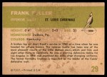 1961 Fleer #29  Frank Fuller  Back Thumbnail