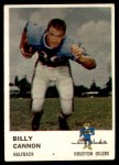1961 Fleer #171  Billy Cannon  Front Thumbnail