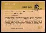 1961 Fleer #167  Jacky Lee  Back Thumbnail