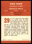 1963 Fleer #29  Ken Rice  Back Thumbnail