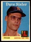 1958 Topps #59 BOX Dave Sisler  Front Thumbnail