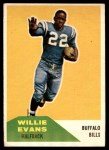 1960 Fleer #65  Willie Evans  Front Thumbnail