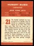 1963 Fleer #21  Hubert Bobo  Back Thumbnail