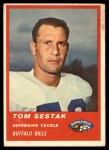 1963 Fleer #33  Tom Sestak  Front Thumbnail