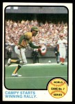 1973 Topps #209   -  Bert Campaneris 1972 World Series - Game #7 - Campy Starts Winning Rally Front Thumbnail